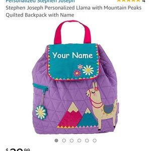 NWT Stephan Joseph Quilted Llama Backpack